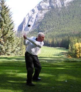 Dr. Orbon on the golf course